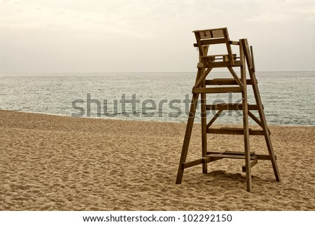 Baywatch chair - stock photo