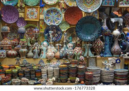 Bazaar, Turky - stock photo