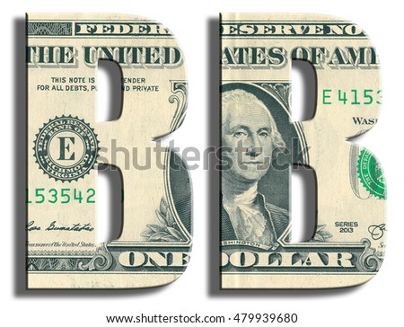 BB Credit Rating. US Dollar texture. 3D illustration.