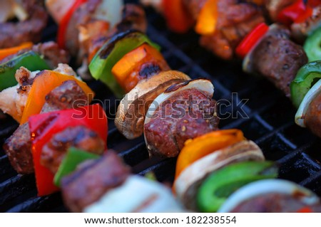 BBQ Brochettes                 - stock photo