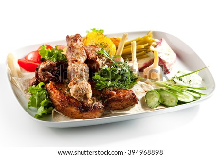 BBQ & Grilled Meat Set with Vegetables