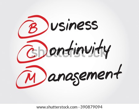 BCM - Business Continuity Management, acronym business concept - stock photo