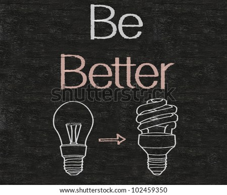 be better business wording written on blackboard background, high resolution, easy to use and edit. - stock photo
