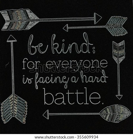 Be Kind - stock photo