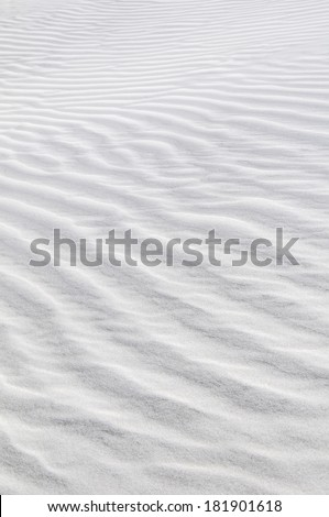 Beach abstract: Sand patterns created by the wind, St. Augustine, Florida, USA - stock photo