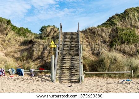 Beach Access Stairs, Anglesea, Great Ocean Road, Australia