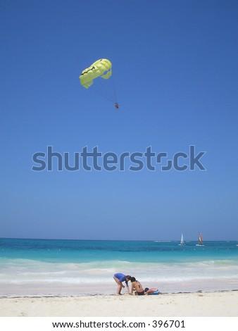 beach activities - stock photo