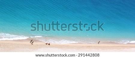 Beach - Aerial View  - stock photo