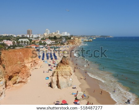 beach algarve sun blue sky