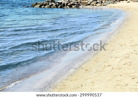 Beach and beautiful sea