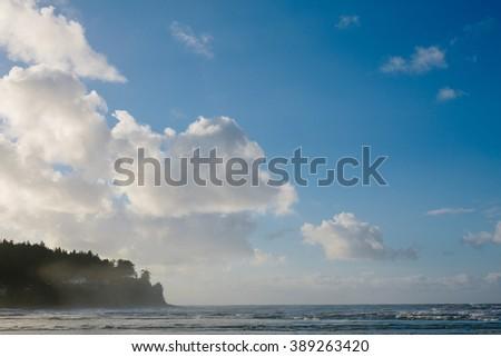 Beach and Blue Sky - stock photo