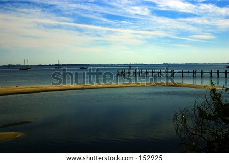 Beach and Boats (exclusive at shutterstock) - stock photo