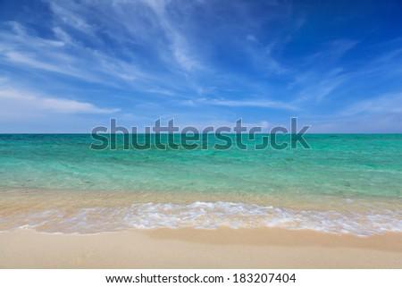 beach and ocean sea - stock photo