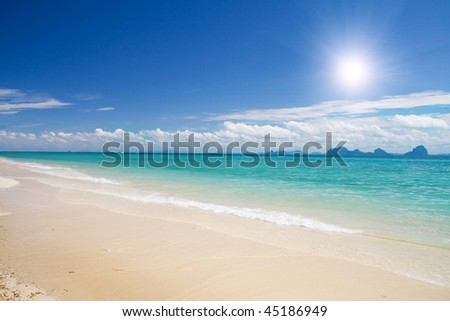 beach and sea - stock photo