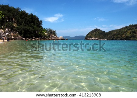 Beach and sea in Krabi south of Thailand