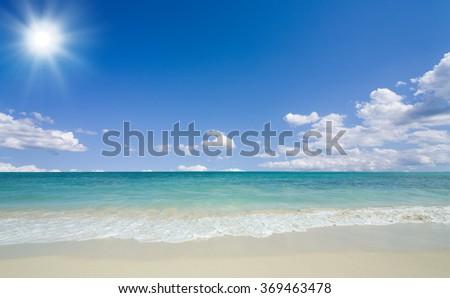 beach and sun - stock photo