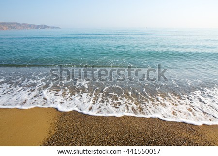 Beach and tropical sea.