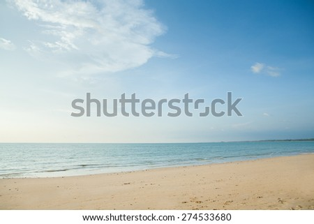 beach and tropical sea in Thailand - stock photo