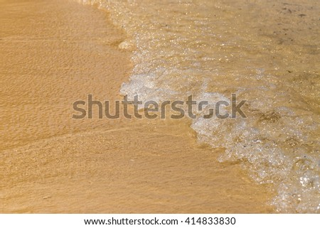 Beach and wave - stock photo