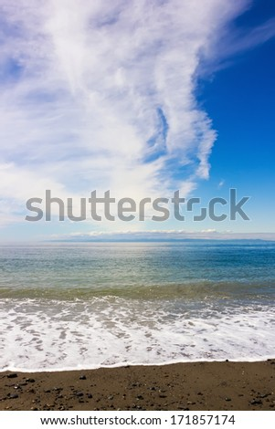 Beach at Dungeness Spit, Washington, United States - stock photo