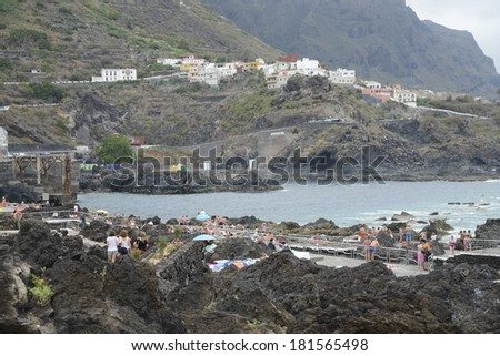 Beach at Garachico, Tenerife