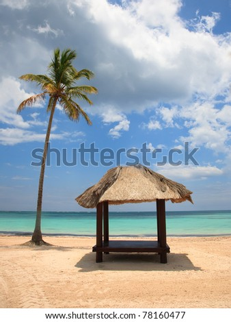 Beach at Punta Cana, Dominican Republic - stock photo