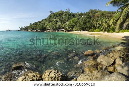 beach at Seychelles - stock photo