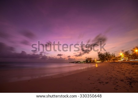 Beach at Sunset - Barbados