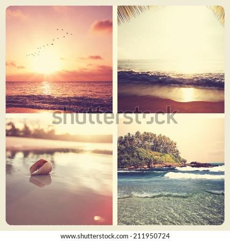 Beach background - stock photo
