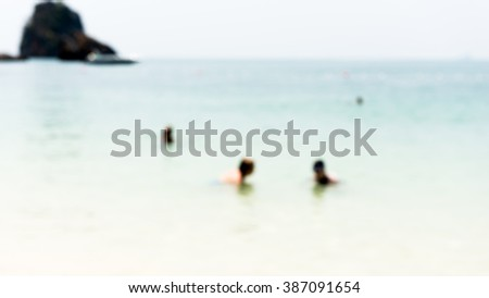 beach background from photo blurred  - stock photo