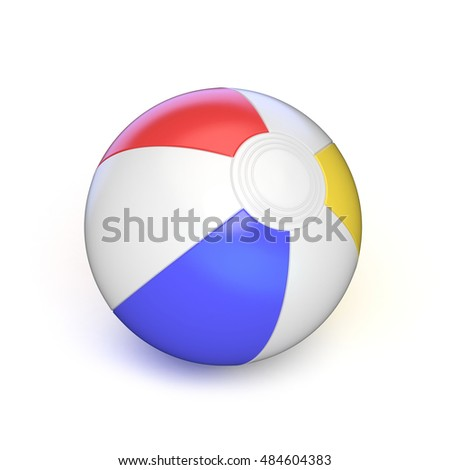 Beach ball. 3D render illustration isolated on white background