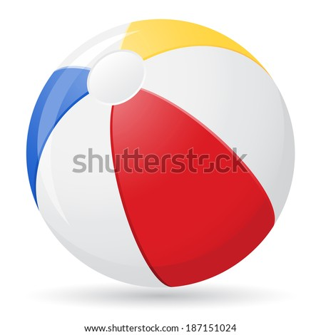 beach ball illustration isolated on white background