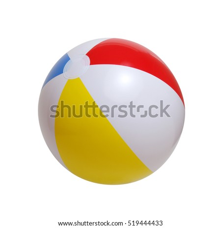 Beach ball isolated on a white background