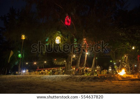 Beach bar at Koh Jum Thailand