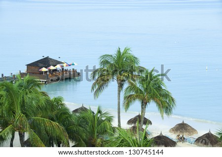 Beach bar in exotic location