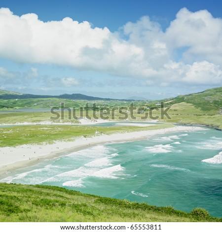 beach, Barleycove, County Cork, Ireland - stock photo