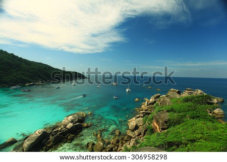 beach blurred background landscape sea shore