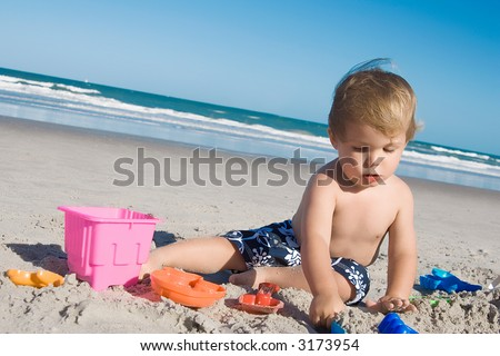 Beach boy - stock photo