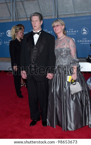 Beach Boy BRIAN WILSON Wife At The 43rd Annual Grammy Awards In Los Angeles