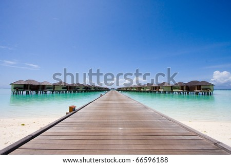 Beach bungalow - stock photo