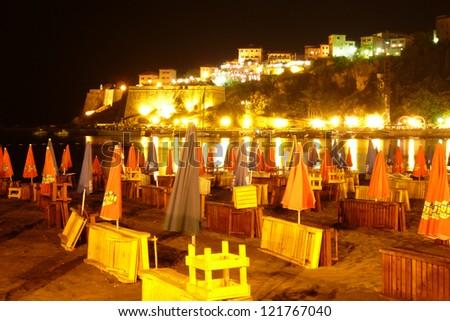 beach by night - stock photo