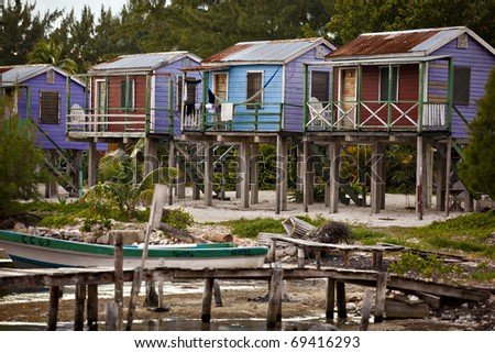 Beach cabanas on caye caulker