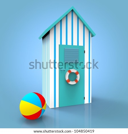 Beach Cabin , Ball