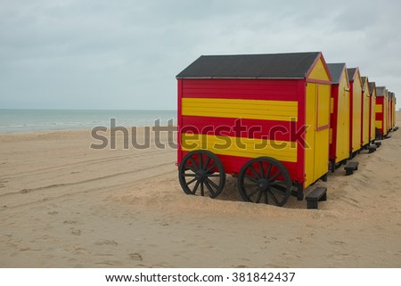 Beach cabins in De Panne, Belgium