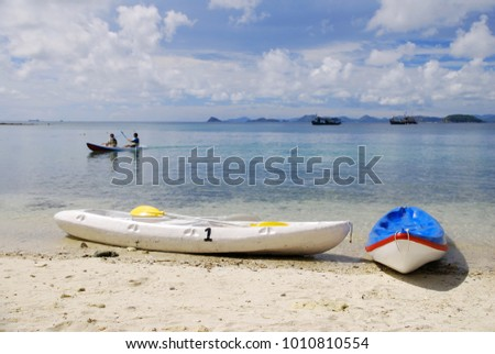Beach Canoeing , Canoeing , Blue Sea