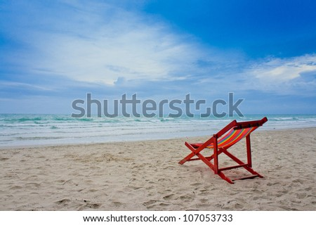 Beach Chairs Sunset Stock Images RoyaltyFree Images Vectors