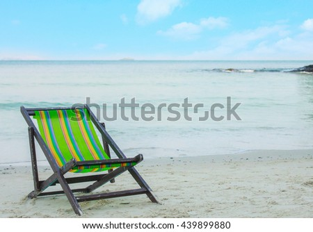 beach chair on the beach.