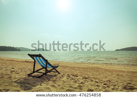 Beach Chair with vintage toned
