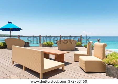 Beach chairs - stock photo