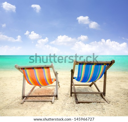 Beach Chairs on the beautiful island